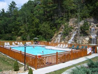 Pigeon Forge cabin photo - Community Pool and Waterfall Entrance