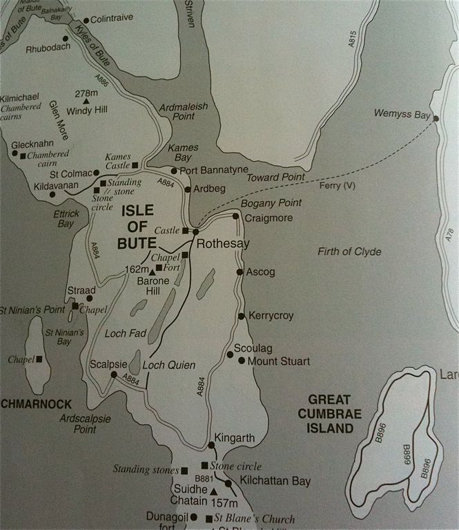 The Isle of Bute map