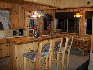 Big Bear Lake cabin photo - Bar and dining area.
