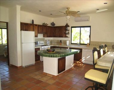 Spacious complete kitchen in main unit