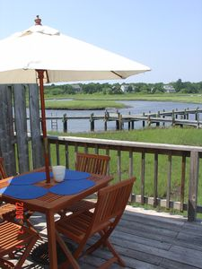 Dennisport cottage rental - Great spot for a cook out after a long day in the Cape Cod sun!