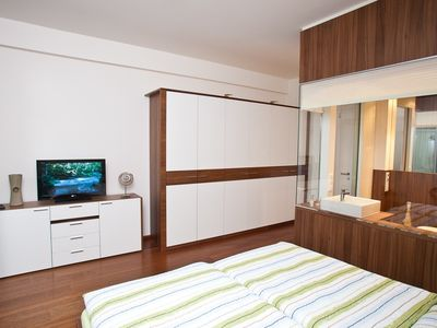 Bedroom with integrated bathroom