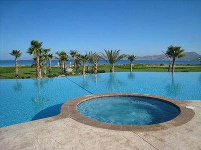 Loreto house rental - The condo pool. An easy walk from the house.