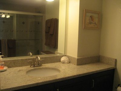 Master Bath with granite counter tops.