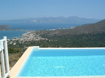 Elounda from the pool