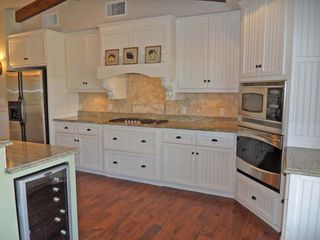 Jonestown house photo - Outstanding, state of the art Kitchen has wine cooler, Micro/Convect & gas stove