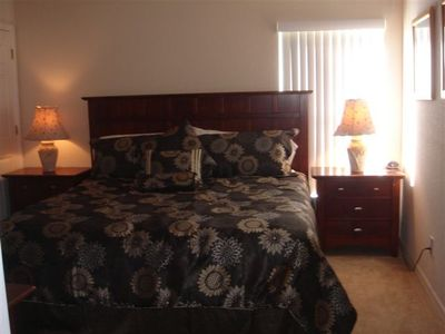 2nd Master Suite with king bed with cable TV and private access to pool area