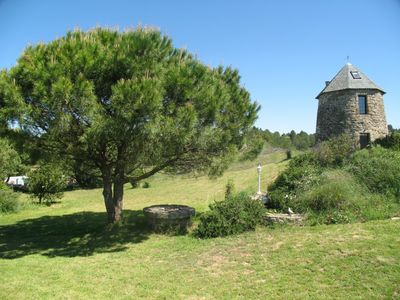 Carcassonne area chateau / country house rental - Pointed Roof Mill Solar Heated Pool