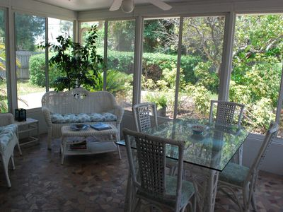 Sun porch for relaxing or dining