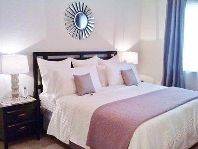 King Master Suite with Luxury Linens