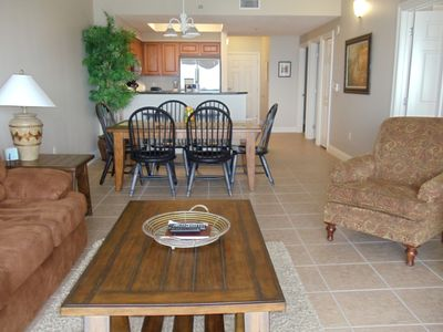 The living, dining, and kitchen areas. Plenty of room to relax and entertain!