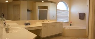 Vacation Homes in Marco Island house photo - Master Bath with Large Soaking Tub and Separate Shower