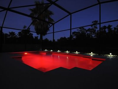 Eagle Pointe villa rental - Multi-coloured LED pool light