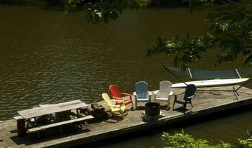 Private floating party barge with bon fire pit