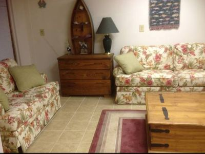 Spacious Den/4th Bedroom with Loveseat, Sleep Sofa, Captains Bed