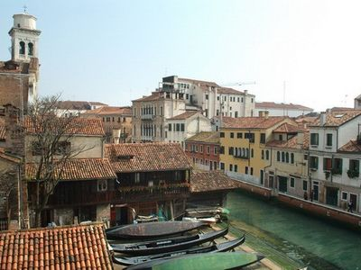Overlooking one of the most-photographed and charming locations in Dorsoduro