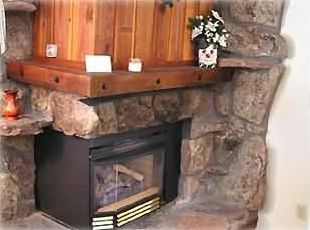 Automatic Gas Fireplace in Living Room