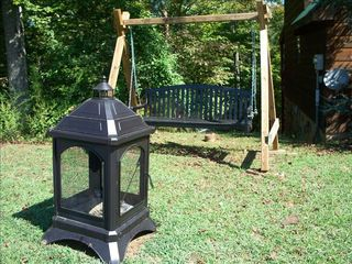 Gatlinburg cabin photo - A swing and a fire-pit for your private enjoyment