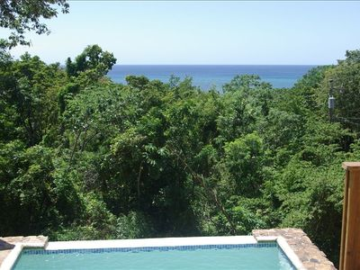 Plunge pool, view from Deck