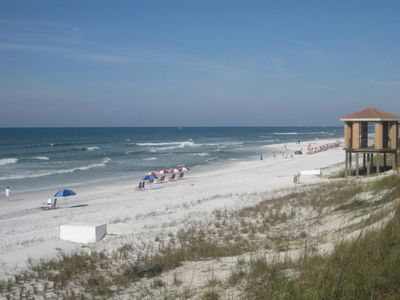 Our semi-private beach is just steps away from Ciboney's back door in Destin, FL