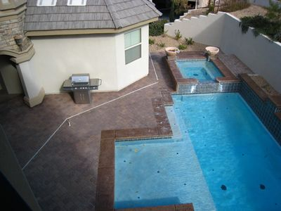 View from 2nd floor Patio - Pool + BBQ