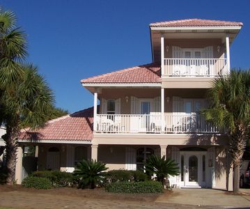 Welcome to Secret Paradise 5 bedroom 3 story luxury beach home in Emerald Shore