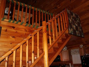 stairs up to the loft area