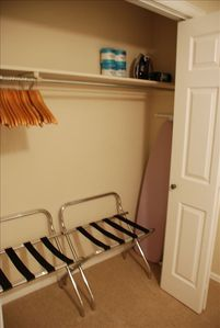 Plenty of Closet Space to Unpack and Keep your Bags Out of Sight
