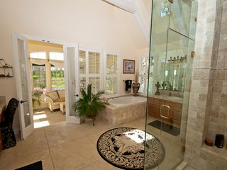 Windsor house photo - Master suite bath room with steam shower and jacuzzi tub