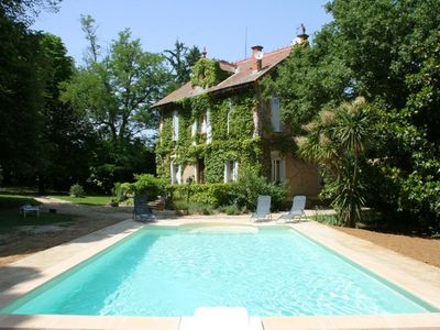 House 1900 between Uzes and Avignon, private pool, park 5000 m²