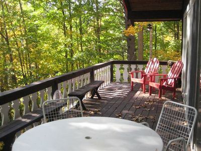Deck in Fall