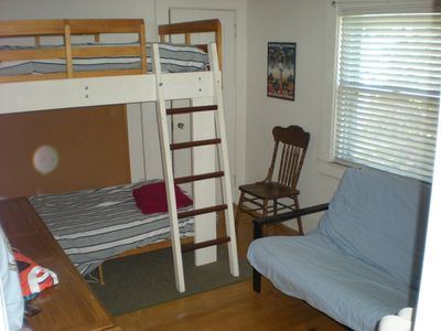Bunk room and futon, great for kids!