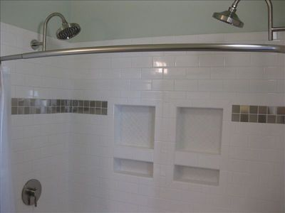 Master Bathroom Shower with Dual Rain Shower Heads