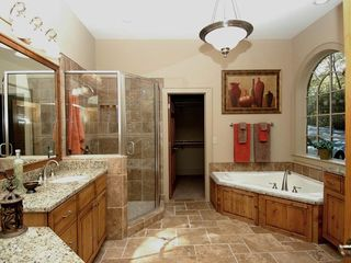 Cashiers estate photo - Main Level Master Spa Bath, Shower & Walk in Closet