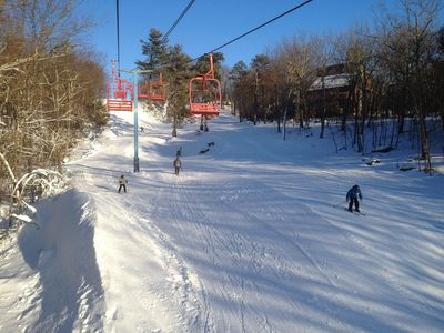 Saw Creek has its own ski hill. The price of admission: your amenities badge.