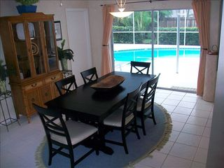 Vacation Homes in Marco Island house photo - View of Pool from Dining Room