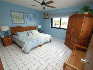 Master Bedroom King Sized Bed, Private Bath