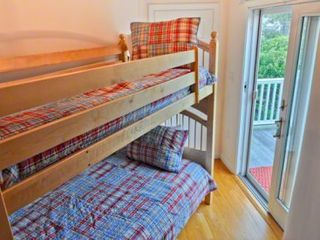 Oak Bluffs cottage photo - Bedroom #2 - Has Twin Bunk Beds, Private Deck. First Floor