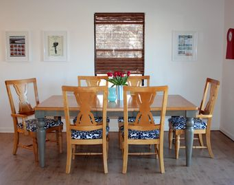 One of the indoor dining areas in first home.