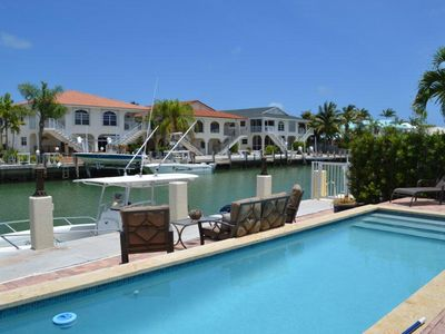 Beautiful private pool w/46 ft. dock