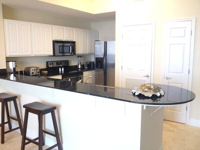 Upgraded Penthouse stainless steel appliances and granite countertop