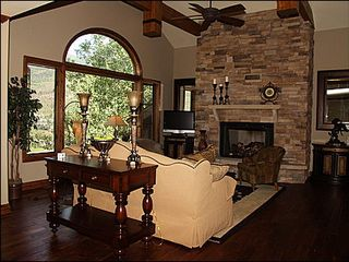Vail house photo - Living Area - Gas Fireplace, TV, Vaulted Ceilings, Picture Window