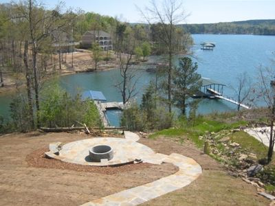 Beautiful View on year round water and firepit w/ walkway to Lewis Smith Lake