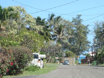 Kailua house rental - Beach is just a stroll down the block. Enjoy morning coffee as the sun rises.