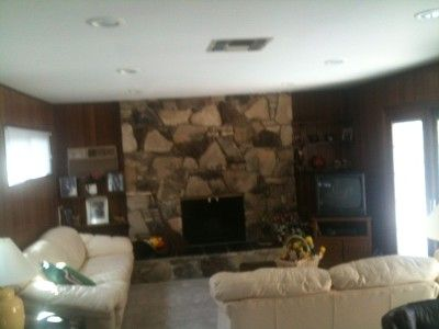 Family room with fire place