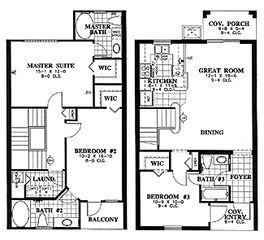 Regal Palms townhome photo - Floor Plan (Flipped)