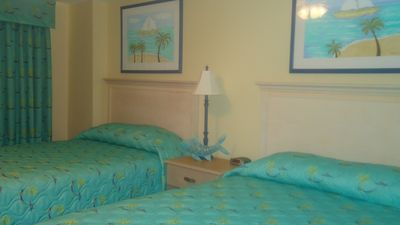 Two double beds in third bedroom.  Also has a flat screen TV.