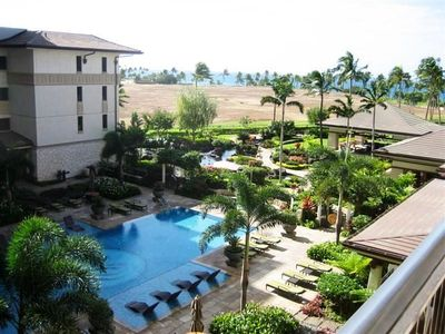 Ko Olina villa rental - View from Lanai - pool and partial ocean view