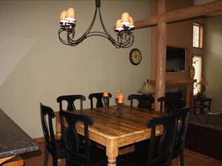Dining Room with Additional Seating at Breakfast Bar - Sunriver house vacation rental photo