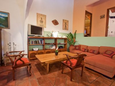 Manuel Antonio house rental - Cozy Living Areas at Casa Azul with Cable TV, Internet, etc.